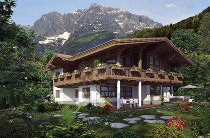 Traditionelles Einfamilienhaus am Fuße des Wilden Kaiser