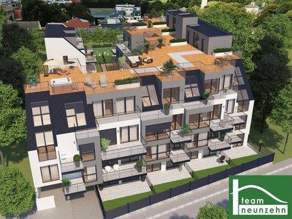 Luxury Living! Glasfronten! Dachgärten! Garage! Westseitig! Fußbodenheizung! Nähe U2!